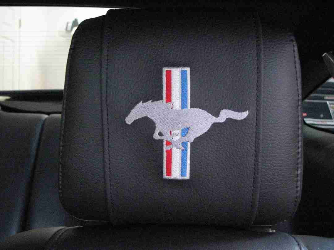 Ford Mustang Logo Seat Covers Velcromag