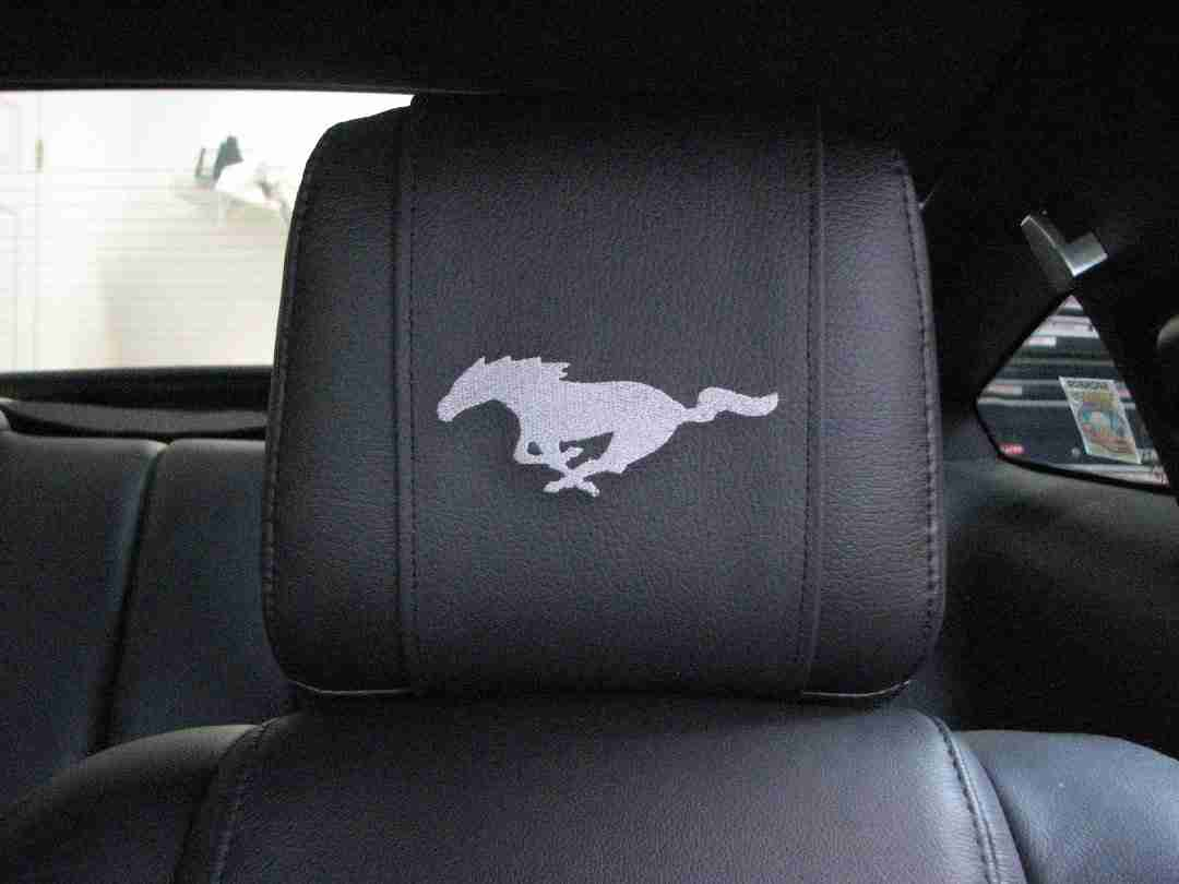 Head Rest Cover Wraps For 2005 And Up Ford Mustang